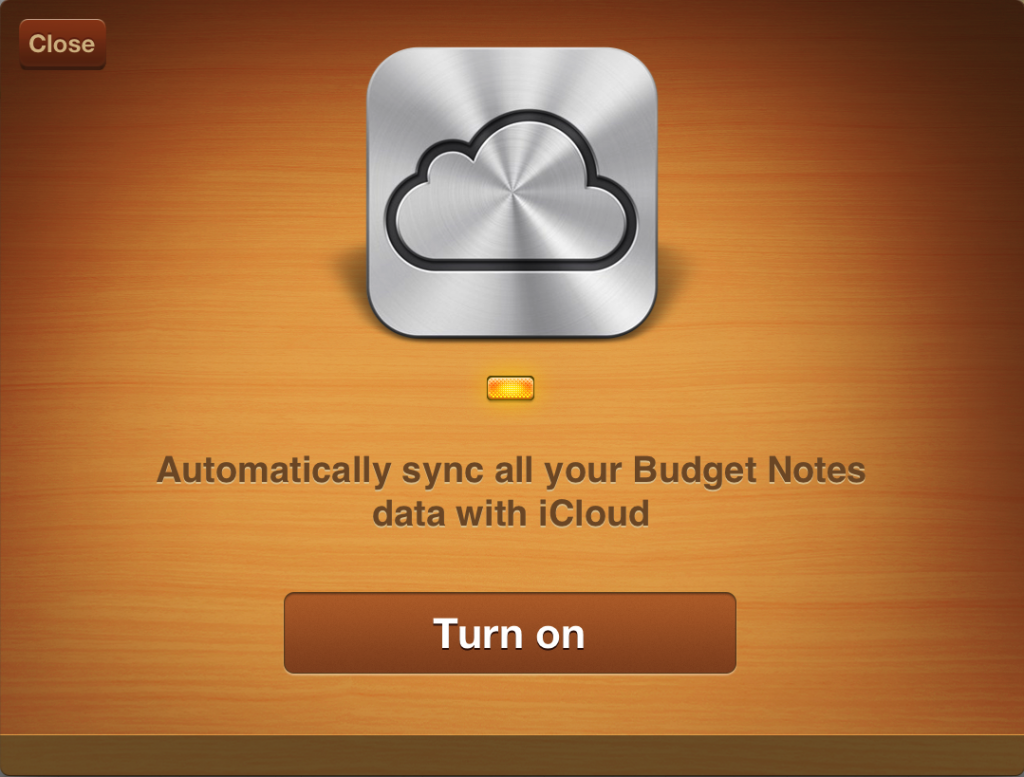 iCloud with Budget Notes