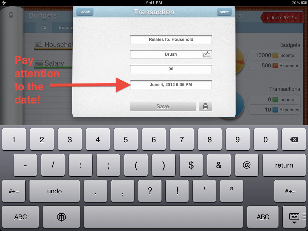 how to add date in notes by default
